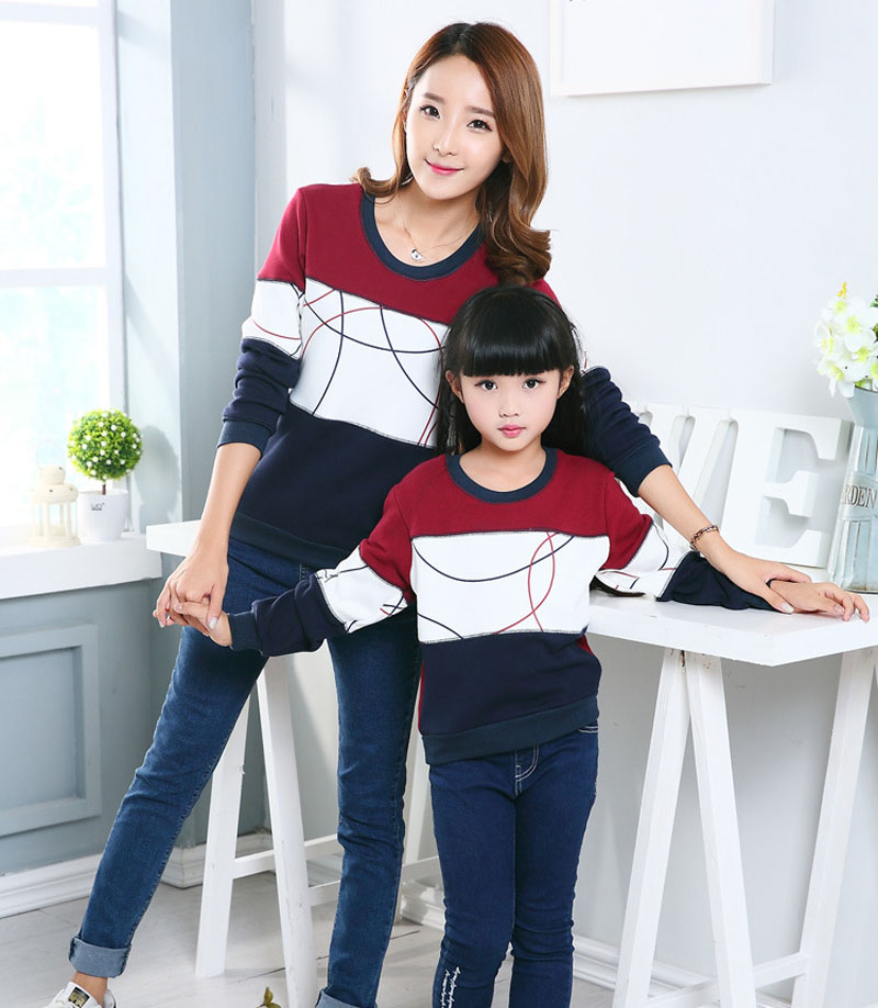HTB1wu4YXcfrK1RkSmLyq6xGApXaL - Plus Size Family Matching Outfits New Casual Autumn Mother Daughter Father Son Boy Girl Cotton Clothes Set Family Clothing