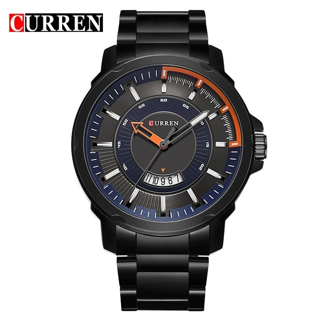 Curren Watch Men Brand Quartz Watch Full Steel Date Display Casual Military Sports Watches Men Clock Male Relogio Masculino 8229 curren luxury brand men watches full stainless steel analog display auto date male fashion quartz watch waterproof xfcs clock
