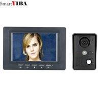 SmartYIBA 7 Video Door Phone Hands Free Monitor Camera Intercom Doorbell Call System For House Families Villa Security