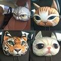 Asiento de coche cojín de la cabeza de perro y gato tigre coche creativo cojín del asiento de coche auto suministros Cuello reposacabezas reposacabezas