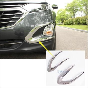Araba-styling Için Chevrolet Equinox Üçüncü GE 2017 araba-styling Ön Sis lamba çerçevesi Modifiye Kafa Sis ışık dekorasyonu kapak
