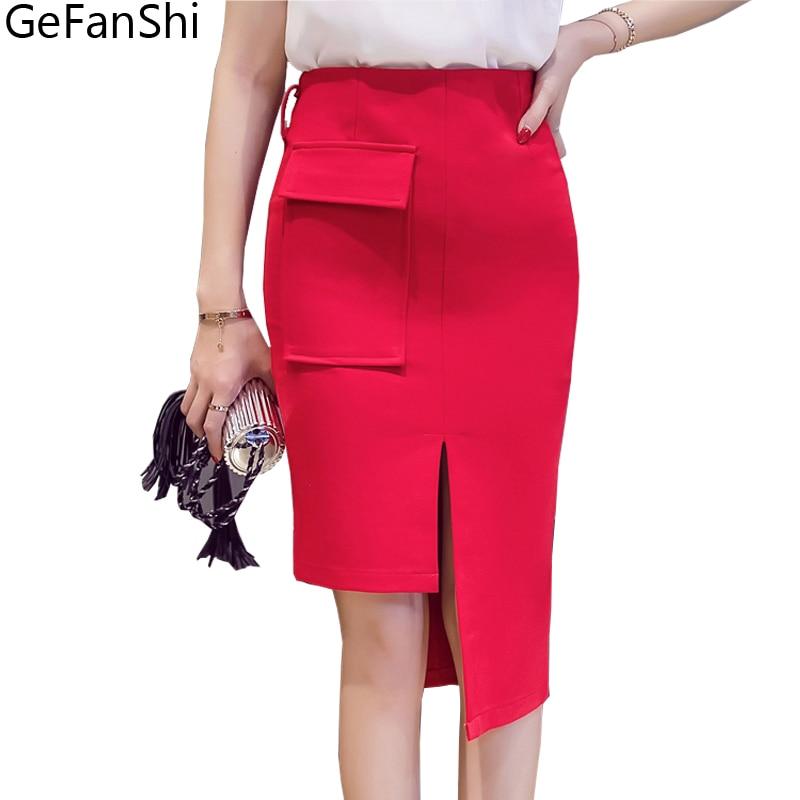 S-5XL Plus Size Ladies Skirt Novelty Asymmetrical Desgin Open Split Women Skirts Fashion Elegant Pencil Skirt OL Slim Sexy Skirt