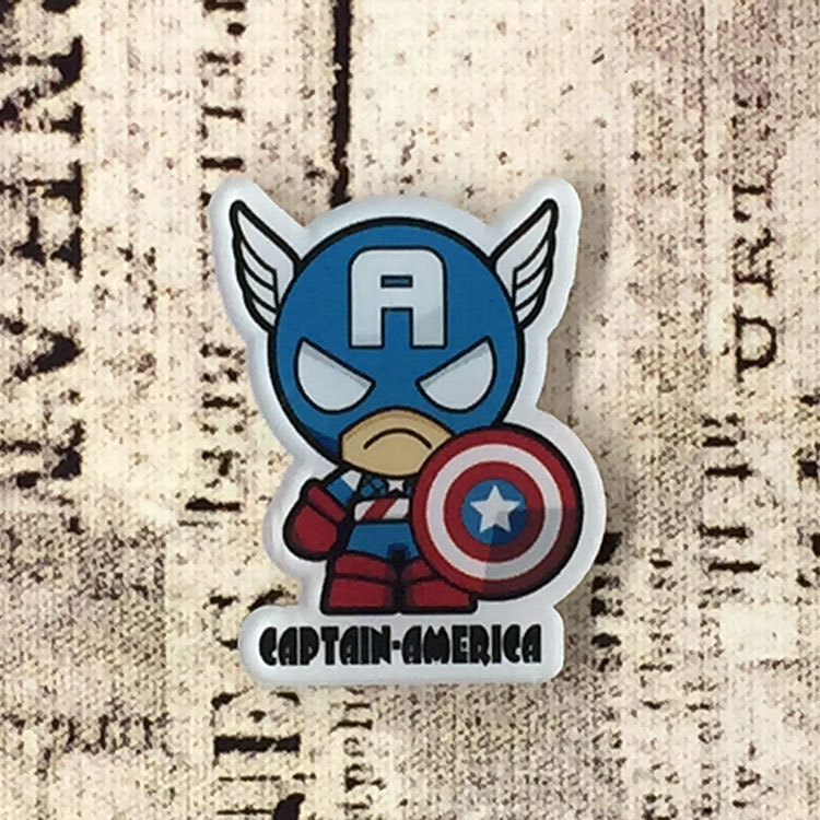 Home & Garden 1pcs Avengers Super Heros Hulk Spider Man Anime Icon Acrylic Brooch Badges Pin Buttons Backpack Clothes Decoration Accessories Terrific Value