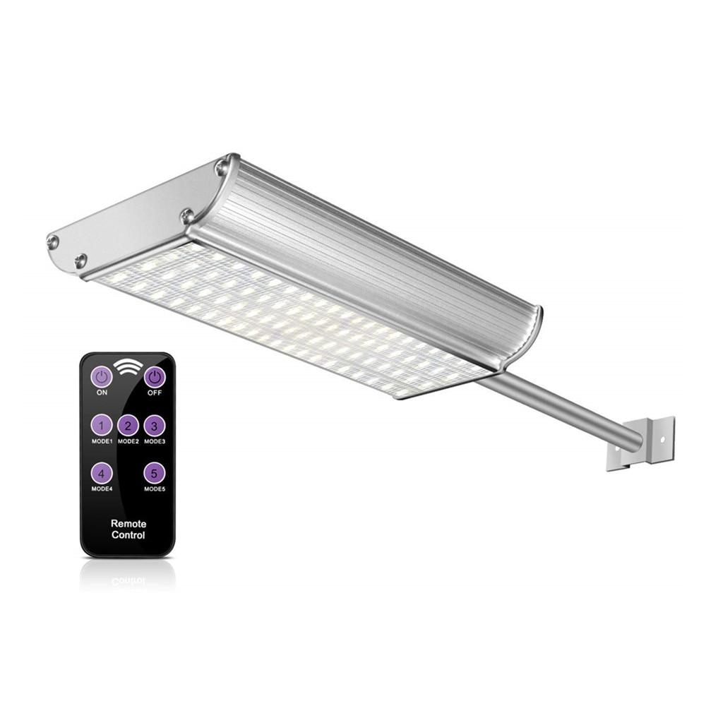 liga de aluminio 70 led 1100lm 5 modos com controle remoto solar buitenlamp jardim lampada solar