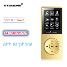лучшая цена Btsmone MP3 player built-in 8G and Speaker HIFI lossless music Recorder and FM Radio expand memory up to 128GB Sport walkman X02