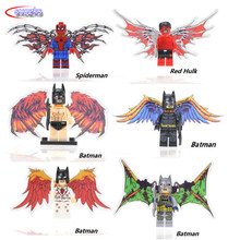ABS Building Blocks Avengers with wings Batman Deadpool Robocop Fawkes Punisher compatible legoing children's assembled toy gift(China)