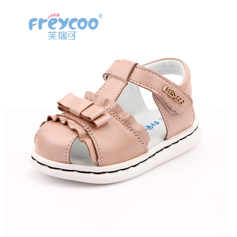 Freycoo 2019 New Summer Kids Shoes Baby Toddler Sandals For Girls Cowskin Genuine Leather Sandals