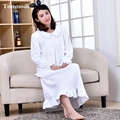 Nightgowns For Women Sleepwear Winter Warm Flannel Long Nightdress Mink Cashmere Loose nightgowns