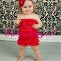 Camada de renda Macacão de Bebê Vermelho Meninas Do Corpo se adapte Posh Petti Meninas Do Bebê Roupas de bebe macacão recém-nascidos roupas de bebe menino