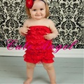 Lace Layer Baby Rompers Red Girls Body suits Posh Petti Baby Girls Clothes bebe jumpsuit newborn roupas de bebe menino