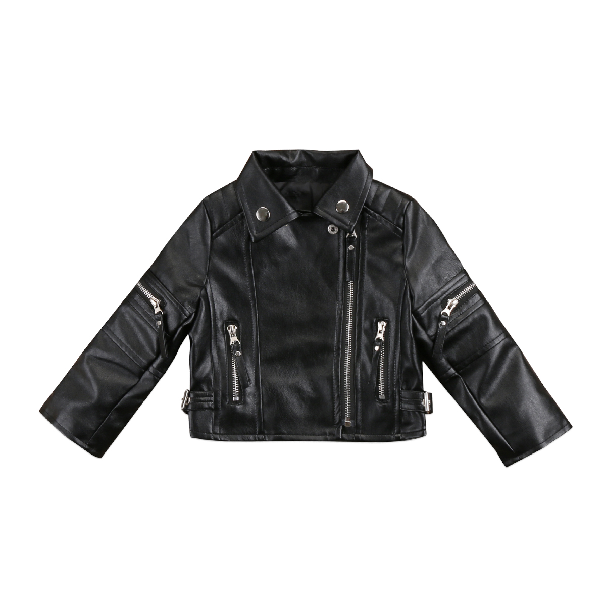 e3cdd91c6 2018 Toddler Kids Baby Girl Fashion Motorcycle PU Leather Jacket ...