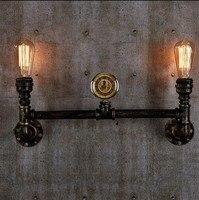 Loft Stil Kreative Metall Wasser Rohr Lampenindustrie Vintage Wandleuchte Für Zuhause Edison Wandleuchte Lampara Pared-in Wandleuchten aus Licht & Beleuchtung bei