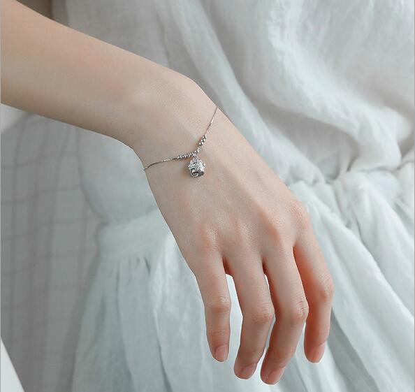 Lovely small cute cat charm bracelet & bangles for women ...