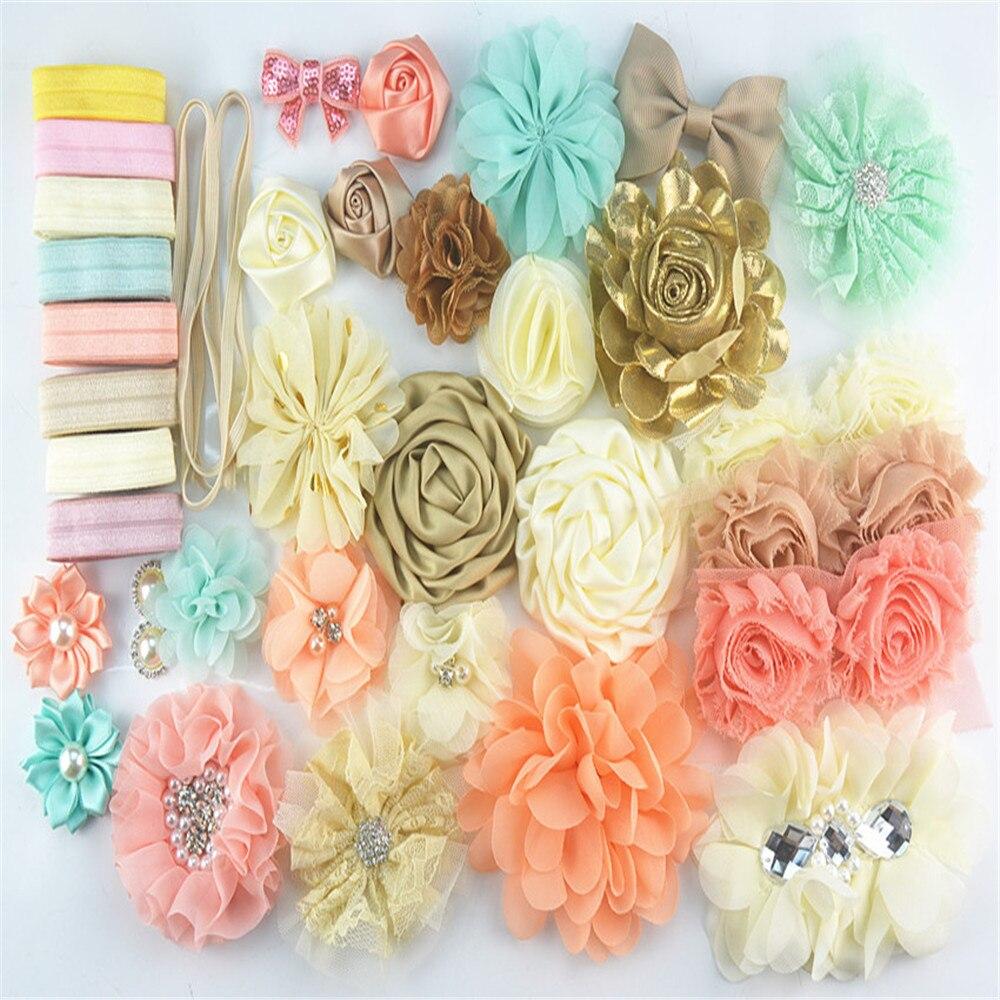 DIY Making Headband Kit Baby Shower Headband Stations Pink//Yellow//Blue//White