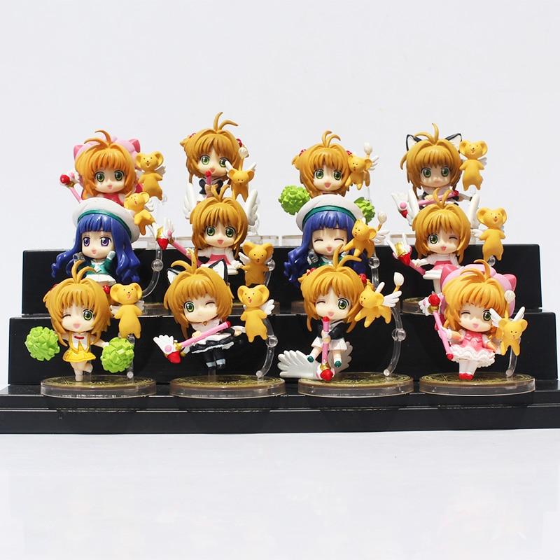 2Styles 6Pcs Lot Anime Cardcaptor Sakura Mini Figures Kinomoto Sakura Daidouji Tomoyo PVC Action Figures Toys