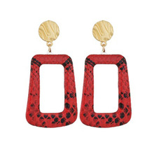 Korean Version Of Temperament Long Earrings Female Geometric Personality Serpentine of Womens Statement Earring WD14