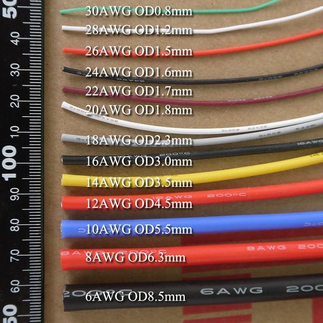 26AWG Flexible Silikon Drahtleitung Weichen Hochtemperatur kupfer ...