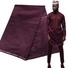 10 Yards African Soft Cashmere Cotton Fabric Material  for Men Cloth Plain Cashmere Polish Fabric Material for Garment AK5