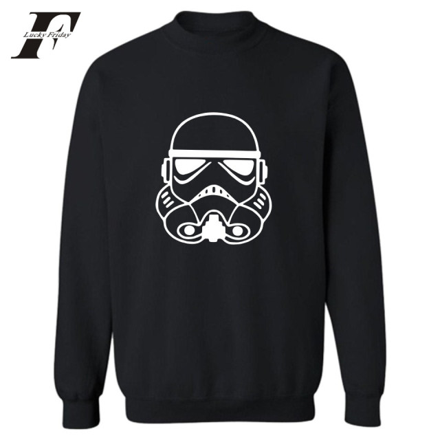 LUCKYFRIDAYF Star Wars Sweatshirts For Men Hot Sale Autumn Casual Capless Hoodies Cotton Black/White Hoodies  Hip Hop Streetwear