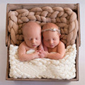 45x50cm Handwoven Soft Acrylic Blanket Basket Stuffer Filler Newborn Baby Photography Backdrops Photo Studio Props Shower Gift