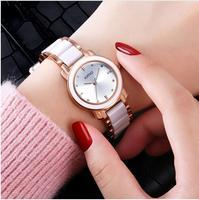 KIMIO 브랜드 고급 여성 시계 세라믹 여성의 팔찌 시계 패션 석영 시계 방수 Relogio Feminino 팜므 시계