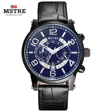 Brand Speed Race Fashion Business Sport Watch Men s Casual Multi function Quartz Wrist Watches Leather