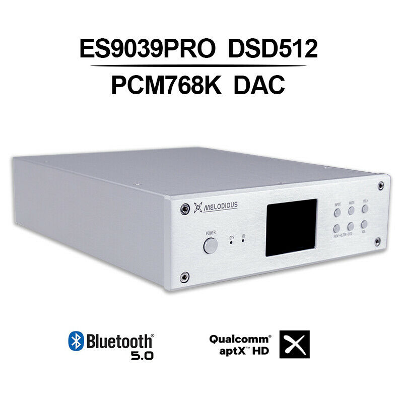 Nobsound Hi-Fi ES9038PRO Balanced DAC USB Audio Decoder Bluetooth DSD512/PCM768K Remote Control air conditioning