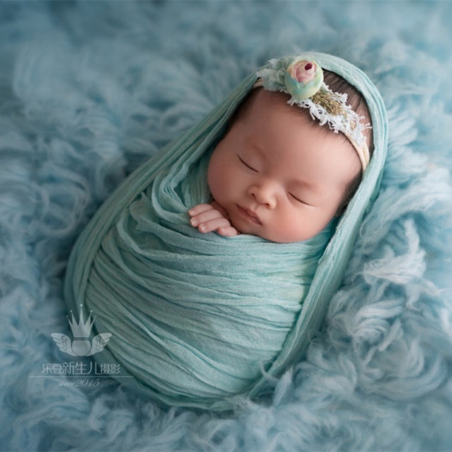 Newborn Baby Photography Hand Dyed Cheesecloth Wrap Photo Props Wrap
