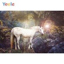 Yeele Vinyl Unicorn Forest Children Girl Birthday Party Photography Background Baby Princess Photographic Backdrop Photo Studio