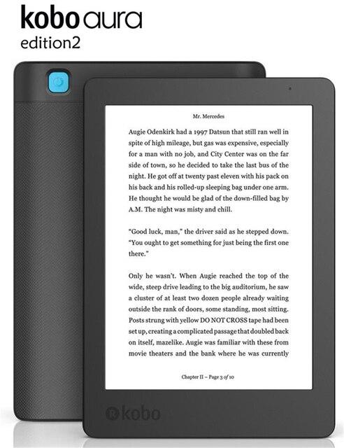 EReader 6 pulgadas Kobo Aura Edición 2 Carta e-tinta pantalla táctil eBook libros 1024x768 WiFi 4 lector de libros electrónicos GB