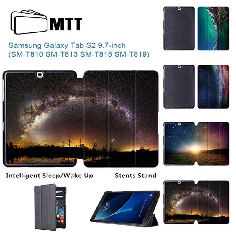 """Mtt Aurora Météore Haute Qualité En Cuir Pu étui Pour Samsung Onglet S2 9.7 """"couverture Intelligente Pour Galaxy Tab S2 9.7 Pouces Tablette Étui DernièRe Mode"""