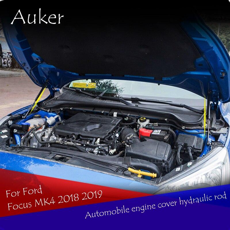Carro-styling Reequipamento Capô capô Elevador Choque Gás Strut Bares Haste de Apoio 2 pçs/set Para Ford Focus Focus4 MK4 2018 2019