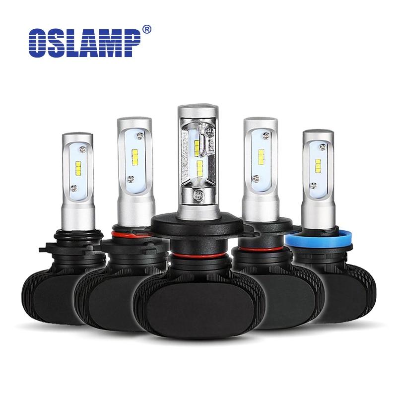 Prix pour Oslamp h7 9005/hb3 9006/hb4 h4 led voiture ampoules 6500 k blanc csp puces 50 W Auto LED Phare Kits Fan-moins H11 Brouillard Lampes Tout-en-un