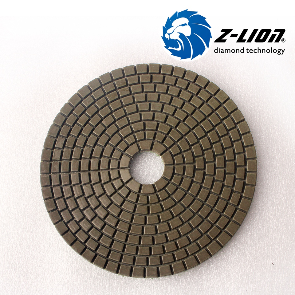 Z lion 5 125mm diamond grinding disc wet polishing buffing pad z lion 5 125mm diamond grinding disc wet polishing buffing pad granite ceramic tile polish tool flexible abrasive pad for stone in abrasive tools from dailygadgetfo Images