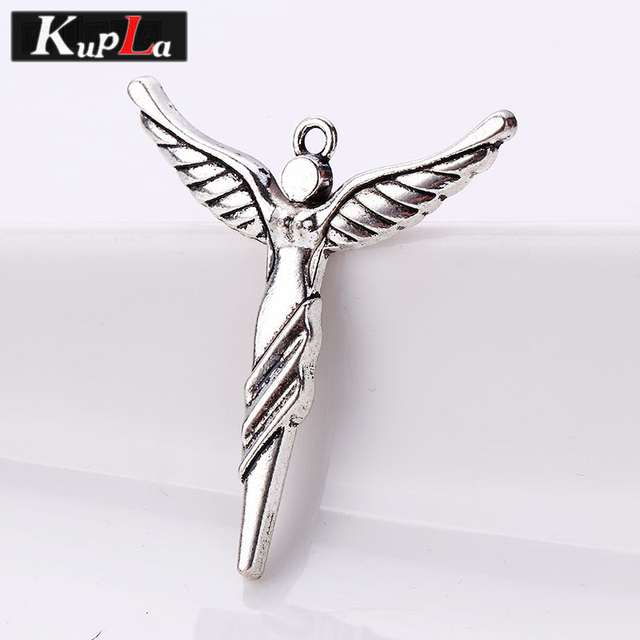 Vintage Metal Angel Charms for Jewelry Making Retro Fashion Diy Handmade  Angel Goddess Pendant Charms 10 pieces/lot C5271