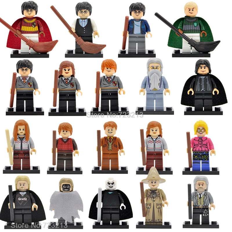 Single Sale Harry Potter Figure Hermione Ginny Ron Weasley Lord Voldemort Draco Malfoy Luna Snape Building Blocks Toys the harry potter dobby hermione dumbledore action figure toys for kids christmas gifts