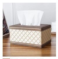 PU Leather napkin holder tissue box Pattern House hold Home decoration tissue box tissue box covers tissue paper box PZJH011