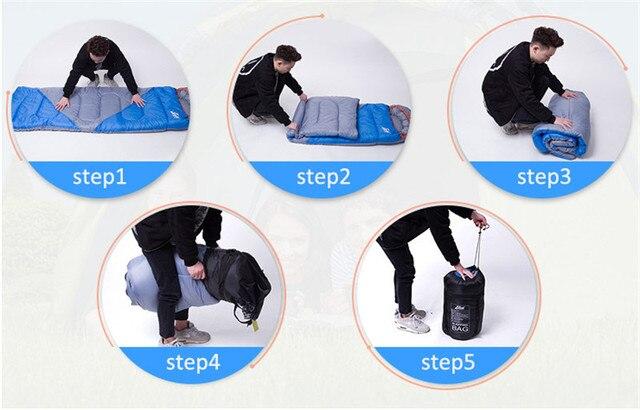 Outdoor Waterproof Adult Sleeping Bag 6
