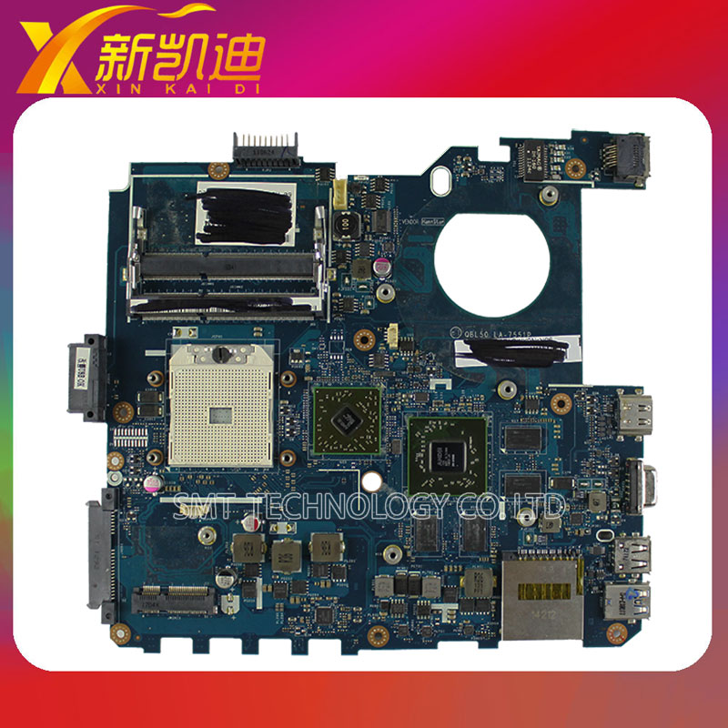 For ASUS K43TA K43T X53T ATI Laptop motherboard mainboard QBL50 LA-7551P Non-integrated 100% Tested