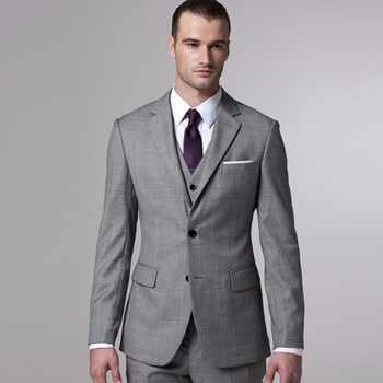 Gray Sharkskin Groom Suit Custom Made Grey Two-Toned Woven Wedding Suits For Men,Bespoke Vintage Gray Tuxedo Gray Wedding Tuxedo - DISCOUNT ITEM  0% OFF All Category