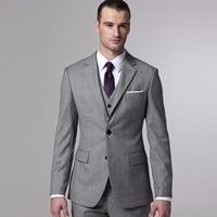 Gray Sharkskin Groom Suit Custom Made Grey Two Toned Woven Wedding Suits For Men,Bespoke Vintage Gray Tuxedo Gray Wedding Tuxedo