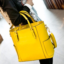 HOT 2016 new designer women genuine leather bags handbags high quality 6 candy color messenger shoulder Bags luxury tote M334