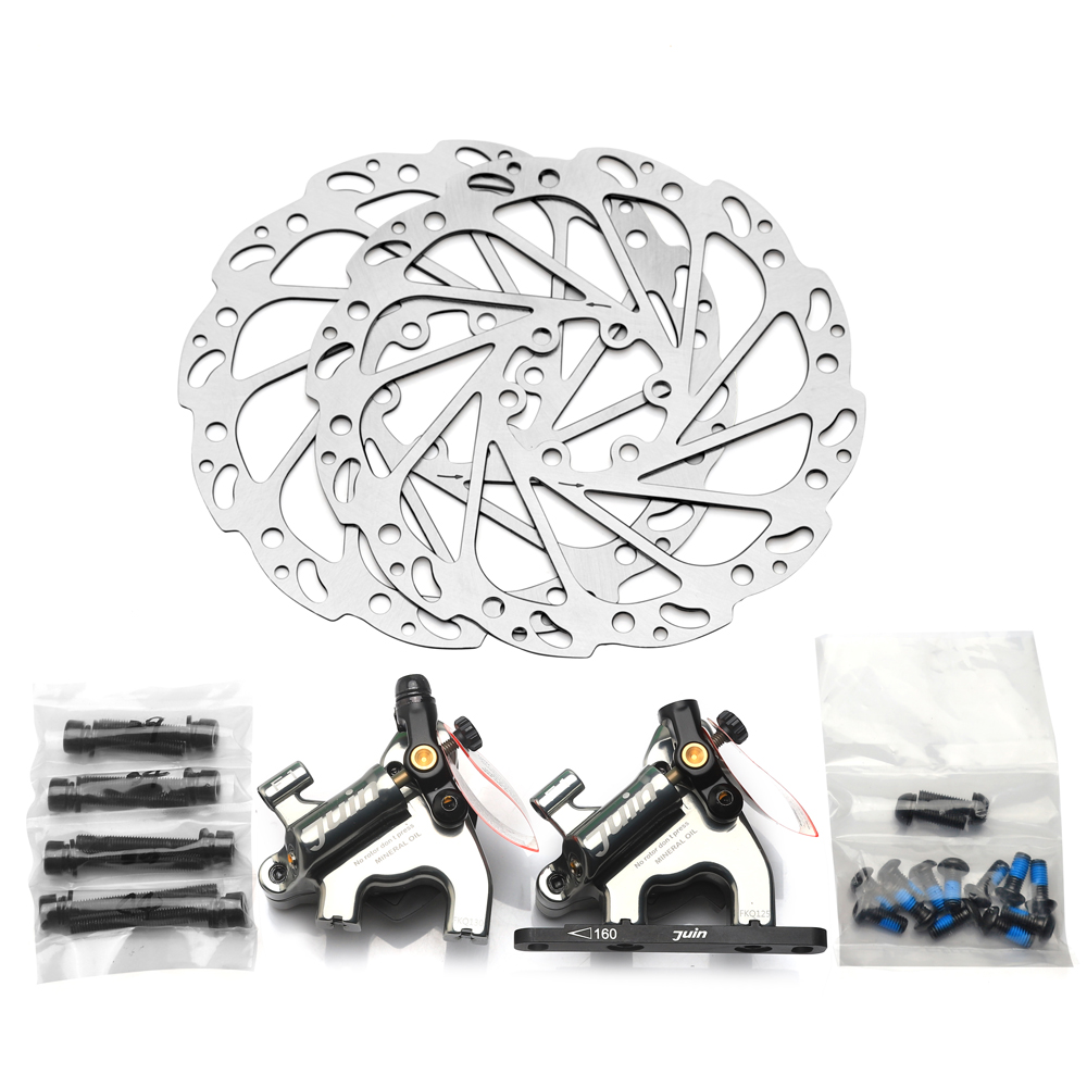 Juin Tech F1 flat mount Disc Brake hydraulic caliper rotor 160mm line pull disc brake MTB
