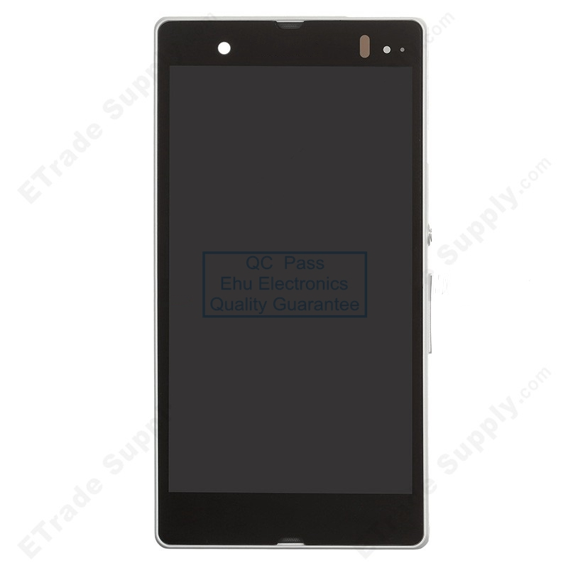 ФОТО New LCD screen and digitizer assembly with front housing replacement for Sony Xperia Z L36h White
