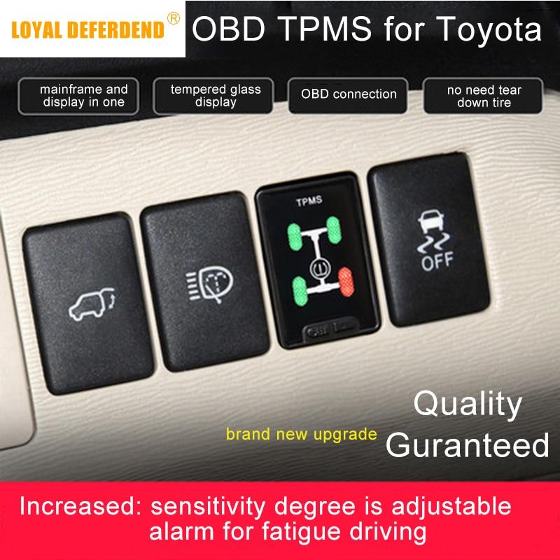 Corolla Levin Camry Prado RAV4 alta Lander Corolla híbrido Levin híbrido Land Cruiser OBD TPMS Sistema de Monitoreo de presión de neumáticos