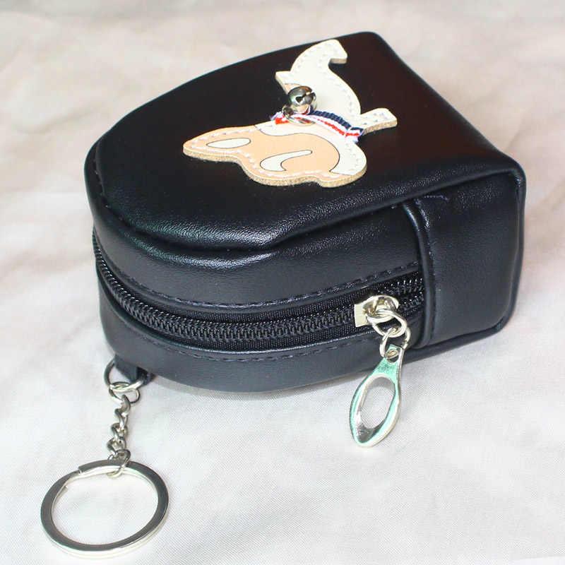 Adorável Cão Mulheres Bolsa Mini Bags Meninas bolsa Carteira Zíper Moeda Cartões Chaves Titular MoneyBag Carteira Senhora Notecase Saco Mudança bolsa