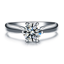 ZOCAI Century Classic Natural Real 1.0 CT Certified F-G/SI Round Cut Diamond Engagement Women Ring 18K White Gold (AU750) W04354