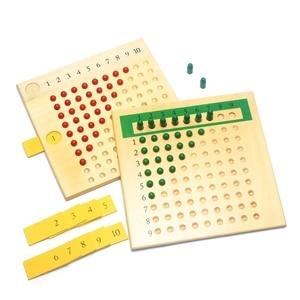 Image 1 - Matériaux Montessori en bois, jouets denseignement des mathématiques, Multiplication et Division de jouets mathématiques, planche à perles apprentissage rouge vert