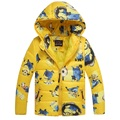 Boy Baby Minion outerwear Clothes Winter Down Coat Warm Baby Snowsuit Children boys Hooded Christmas Coat New Year gift