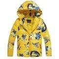 Minion Bebé prendas de vestir exteriores Ropa de Invierno Abajo Capa Caliente Del Bebé traje para la Nieve de Los Niños Encapuchados Abrigo De la Navidad regalo de Año Nuevo